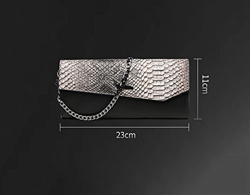 Black Package Bag Large Package Bag Hand Capacity Hand Fashion Green Banquet Leather Dinner Color Gray vI8xrqIO