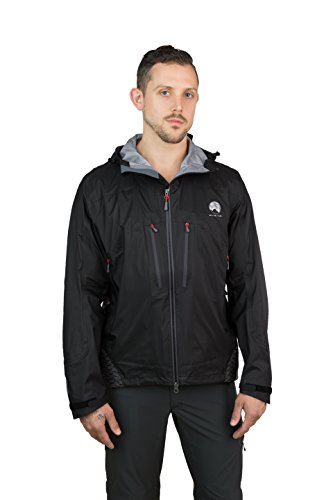 Mishmi Takin Virunga - 3 Layer eVent Waterproof, Windproof, Hard Shell Jacket - Men's (Small, Pirate Black) by Mishmi Takin