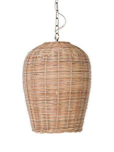 - KOUBOO 1050105 Panay Wicker Pod Hanging Ceiling Lamp, One Size, Wheat
