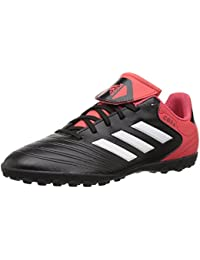 Girls' Copa Tango 18.4 TF J, Core Black/White/Real Coral, 13.5 M US Little Kid