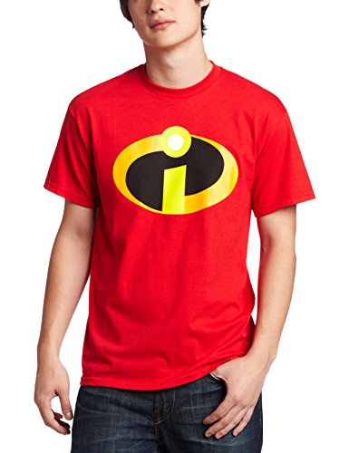 Disney Men's The Incredibles Logo Basicon T-Shirt,  Red, -