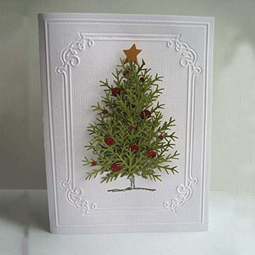 TreeMart Christmas Tree Pattern DIY Metal Cutting Dies Stencils for Scrapbooking Embossing Folder Photo Album Decoration DIY Paper Cards (Cards Valentines Birthday)