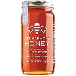 BEE HARMONY American Raw Wildflower Honey, 12 OZ