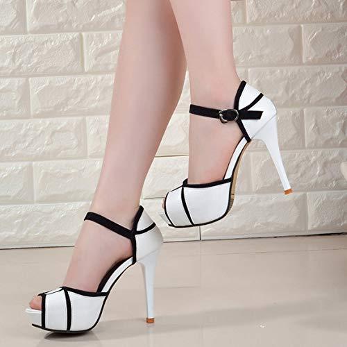 Lady Sandals Sottile Piattaforma Tacco con Scarpe Sandali con Tacco estive Alto Femminile Alto Scarpe Delicacydex Tacco Aperti Traspiranti Scarpe Scarpe con q7wI70t