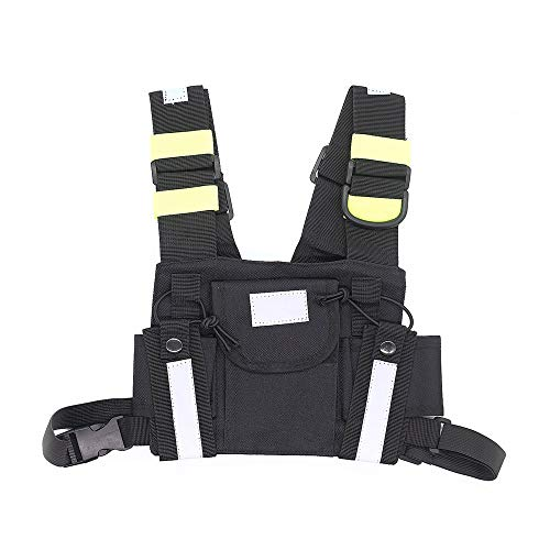 Marvogo Radio Chest Harness Chest Front Pack Pouch Holster Vest Rig for Two Way Radio Walkie Talkie(Rescue Essentials(K) ()