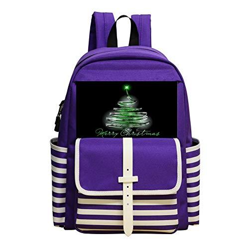 Treeline Pack - Christmas Tree Line Schoolbag Large Primary School Leisure Bag Children's Backpack Purple