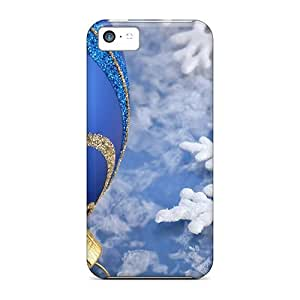 For Iphone Cases, High Quality Blue Christmas Ball With Snow For Iphone 5c Covers Cases