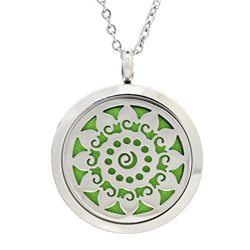 ULTNICE Aromatherapy Essential Oil Diffuser Stainless Steel Locket