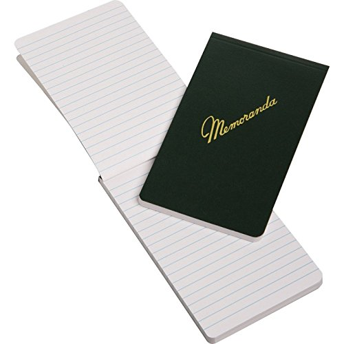 Memorandum Book, 3-3/8'' x 5-1/2'', Dark Green, Top Bound, NSN 7530-00-243-9366 (12-pack) by ArmyProperty