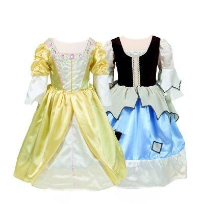 (Girls Kids Childrens Princess/Pauper Cinderella Fancy Dress Reversible Costume 6-8 Years by)
