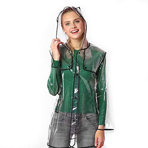 Ezyoutdoor® Rain Slicker Newest seller Stylish Slim Longer Raincoat Rain Poncho Bicycle Ridding Cape Women Men Cycling Bike Waterproof Rain Cape for Outside Camping Hiking Walking Travel (black)