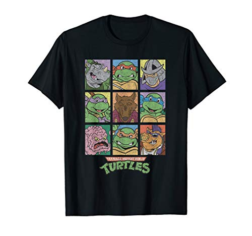 TMNT All Characters Square Design  T-Shirt -
