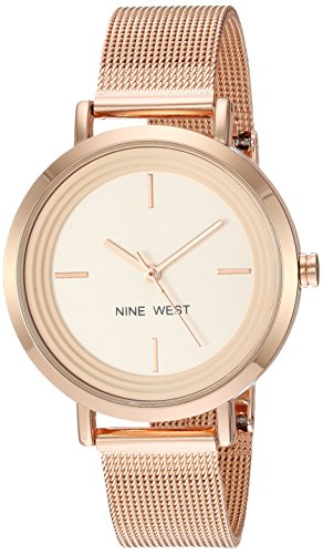 Nine West Women's NW/2146RGRG Rose Gold-Tone Mesh Bracelet Watch