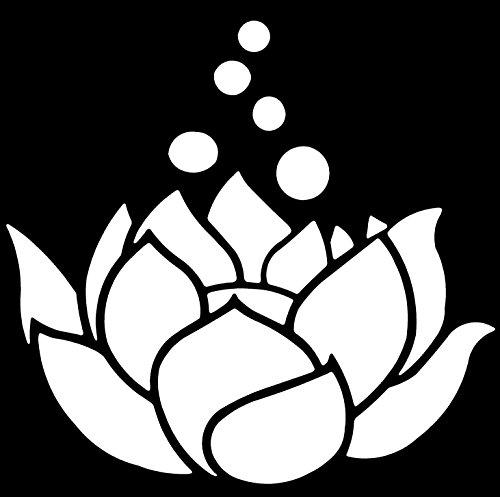 Flower Car Sticker (LOTUS FLOWER White 5