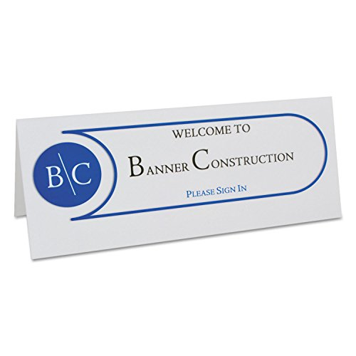 (C-Line 87517 Printer-Ready Name Tent Cards, 11 x 4 1/4, White Cardstock, 50 Letter Sheets/Box)