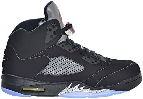 3d9e88339f5 Amazon.com: Jordan Air 5 Retro OG Men's Shoes Black/Fire Red ...
