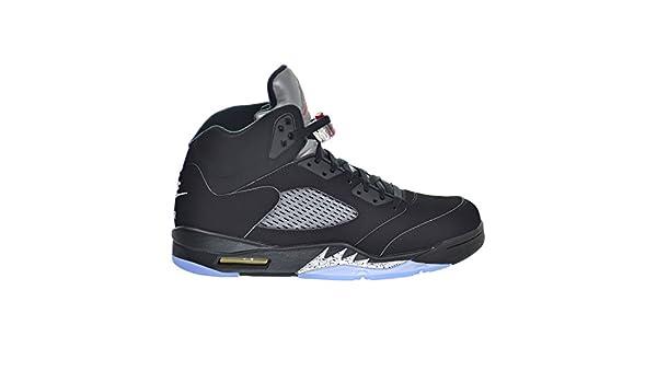 398109dfec9 Amazon.com: Jordan Air 5 Retro OG Men's Shoes Black/Fire Red/Metallic Silver /White 845035-003 (9 D(M) US): Sports & Outdoors