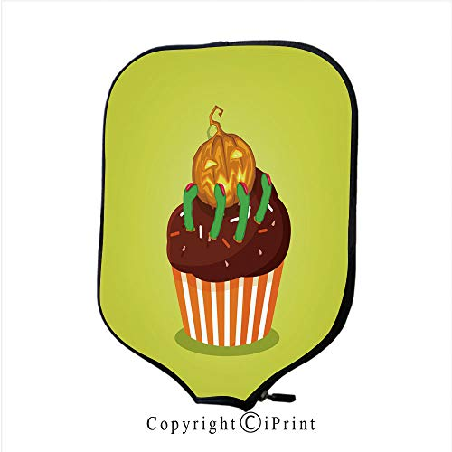 Different Charming Personalized Customized Colors Design,Cute Happy Halloween Cupcake with Rose Cream Witch hat (Size:8.23