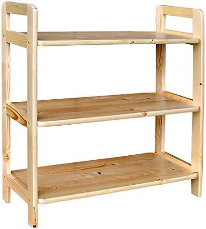 Estantería de madera maciza de pino 423 - dimensiones 70 x 91 ...