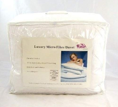 Luxury All Seasons Superking Size Microfibre Soft as Down Duvet - 4.5 Tog + 9 Tog = 13.5 Tog