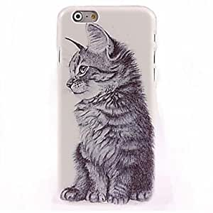 JAJAY Black And White Kitten Pattern Case for iPhone 6