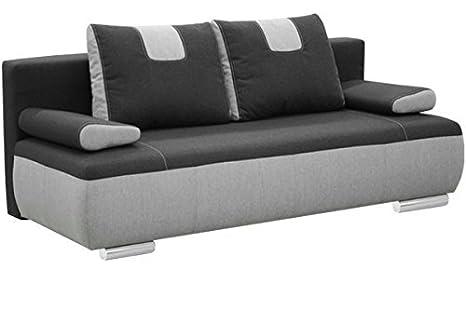 Ufficio Divano Nero : Gino grande nero a tre posti divano letto divano in tessuto con pelo
