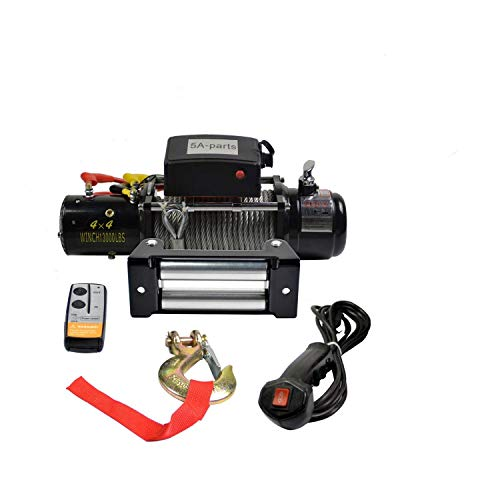 12V 13000 lb.Load Capacity Wireless Electric Winch, wireless Remote Control for Truck Trailer For Towing Truck ()