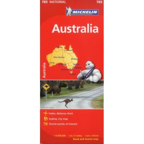 Michelin Australia Map 785 (Maps/Country (Michelin)) - 41gG3z jHPL. SS500 - Getting Down Under Travel Guides