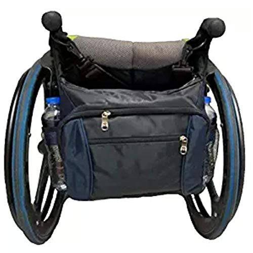 YAOBAO Wheelchair Mobility Bag - Universal Travel Tote with Multi-Pocket for Carrying Accessories on Rolling Walkers & Transport Chairs Disabled Medical Mobility Aid ()