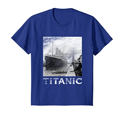 Kids Titanic April 1912 T Shirt Tee Ship Voyage Atlantic Ocean 12 Royal Blue
