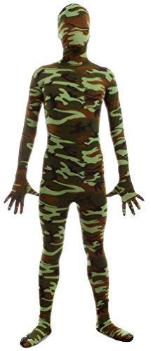 Seeksmile Unisex Second Skin Zentai Full Body Suit for Adult (Kids Medium, Camo Green) - Skin Suit Camo Child Costumes