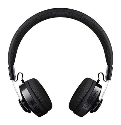 LilGadgets Untangled Pro Premium Children's/Kid's Wireless Bluetooth Headphones with SharePort (Black)