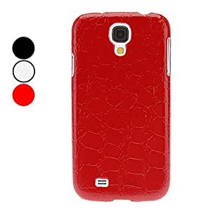 TOPAA Stone Lines Pattern Hard Case for Samsung Galaxy S4 I9500 , Red