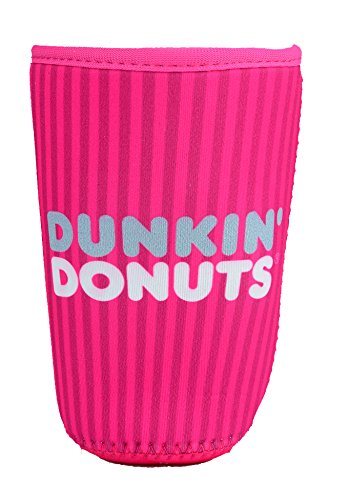dunkin-donuts-cup-cooler-pink-strip-medium-fits-24-oz-cold-ice-coffee-holder