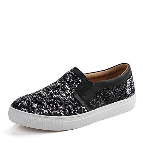 Zapatos de mujer casual de primavera/Zapatos de lentejuelas de Lok Fu/zapatos casuales/Mujeres zapatos coreanos/Zapatos de suela gruesa B