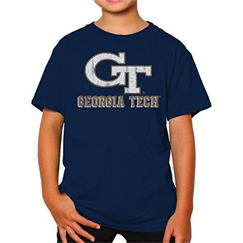 NCAA Georgia Tech Youth Boys Tee, Large, Navy