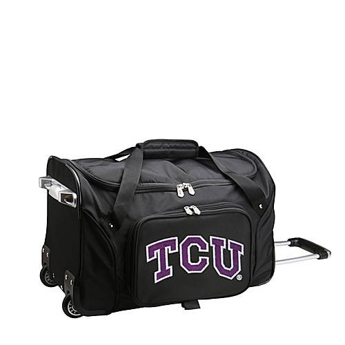 NCAA 22'' Rolling Duffel Texas Christian University Horned Frogs by TableTop King