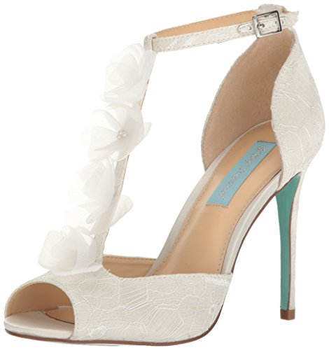 Blue by Betsey Johnson Women's SB-Sadie Dress Pump, Ivory Satin, 9 M US by Betsey Johnson