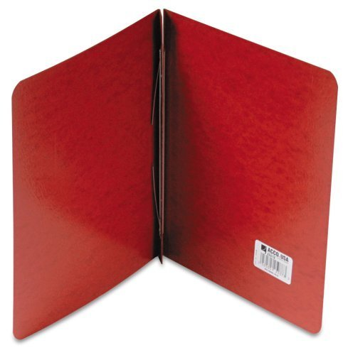 ACCO 25078 Presstex Report Cover, Reinforced Hinges, 11 x 8-1/2, 8-1/2 C to C, Red, Carton of 100 by ACCO Brands