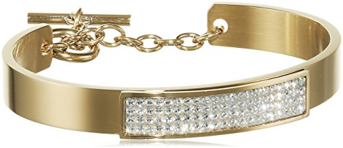 Dyrberg/kern-bracelet femme - 15/02 ventia sg crystal - 338213 et doré