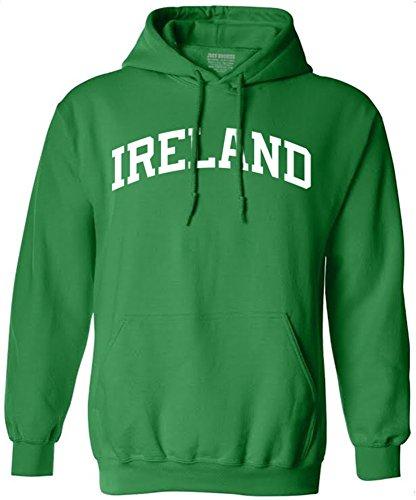 Joe's USA(tm - Ireland Logo on Green Hooded Sweatshirt in Sizes S-5XL