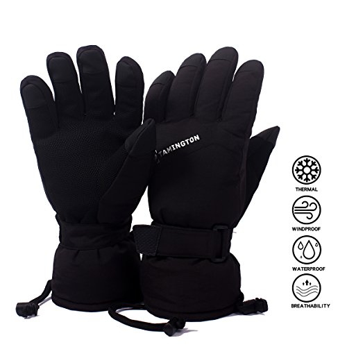 TAMINGTON Ski Gloves Winter Gloves Waterproof Windproof Gloves for Mens Warm Snow Skiing Snowboarding Snowmobile Gloves by – DiZiSports Store