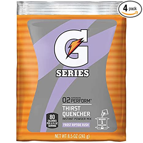 Gatorade 1 Gallon Instant Powder Packets 8.5ounce packets (Riptide Rush)