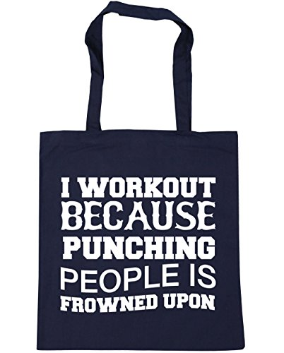 HippoWarehouse is Tote upon Shopping 10 Beach I Bag 42cm people Navy French frowned litres workout because punching x38cm Gym XX8rq