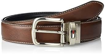Tommy Hilfiger Men's Leather Reversible Belt,Brown/black,30