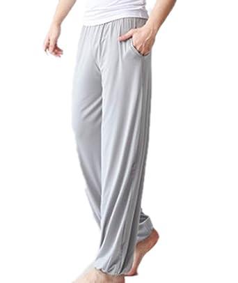 huateng Pantalones Largos de Yoga para Hombres, Pilates ...