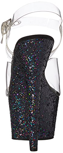 Adore Pleaser Bout Ouvert 708lg Multi Clr Femme Glitter Blk v7w7Txqdr