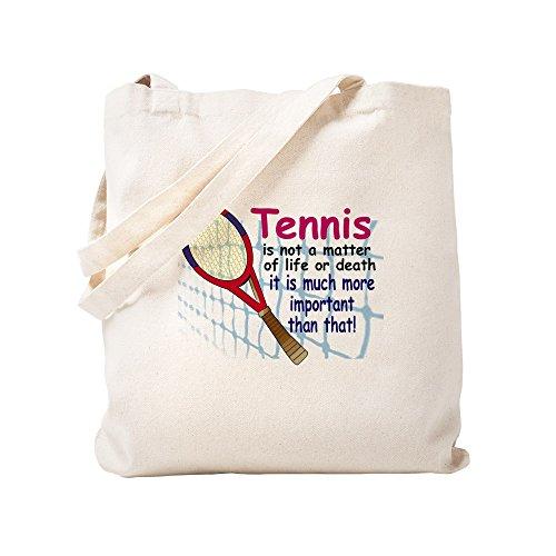 CafePress - Tennis Is A Matter - Natural Canvas Tote Bag, Cloth Shopping (Ace Tennis Tote)
