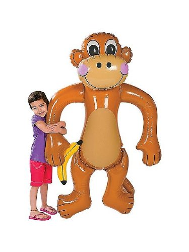 Jumbo Inflatable Monkey - Approx. 61