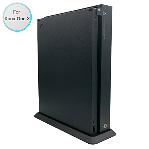 FASTSNAIL Vertical Stand for Xbox One X with Built-in Cooling Vents and 4 Non-Slip Feet, Xbox One X Stand (3 1 4 X 10 Vent)